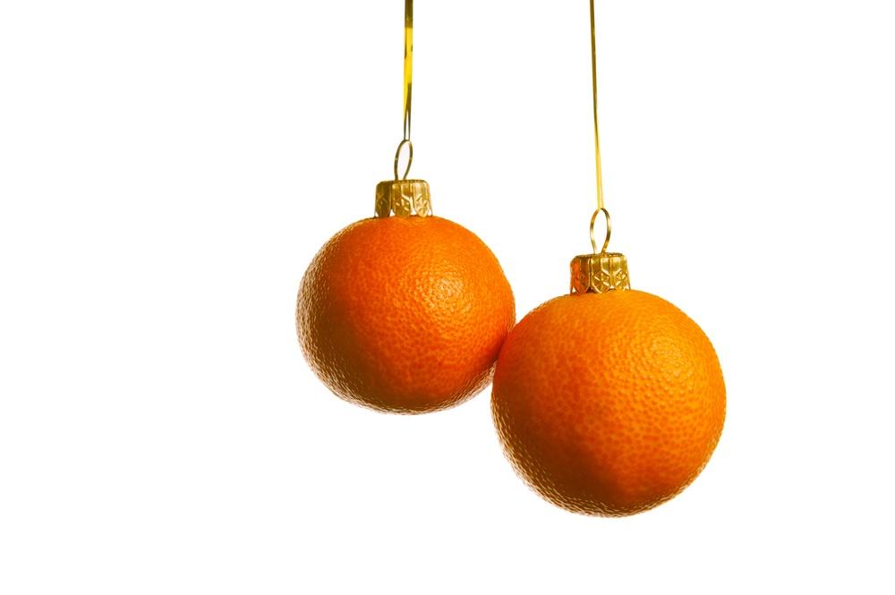 ялинкові іграшки з апельсинів