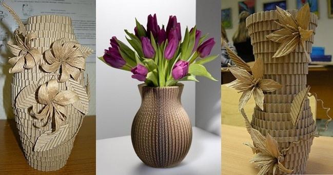 Напольные вазы для цветов своими руками