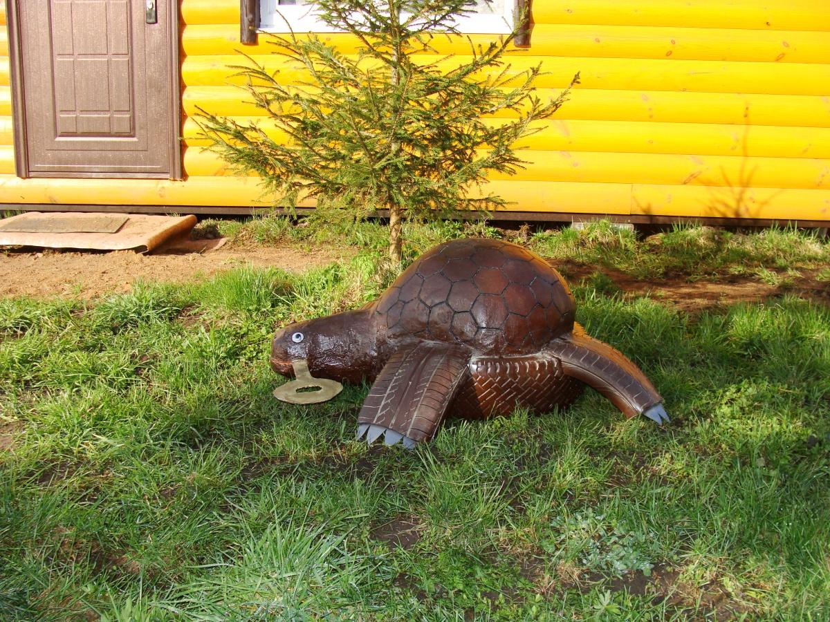 Как сделать черепаху своими руками для сада из цемента 77