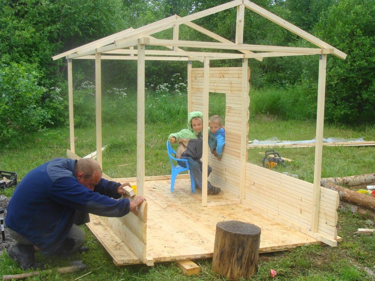 Деревянные постройки для дачи своими руками