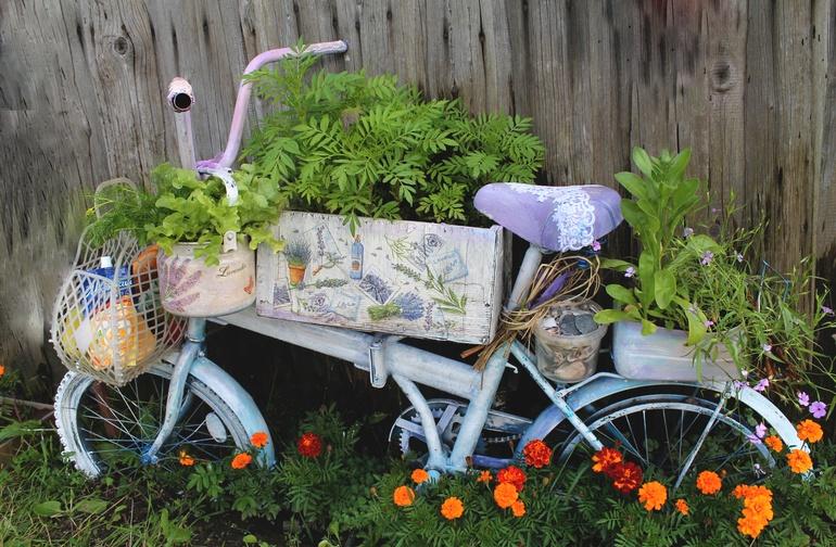Клумба велосипед