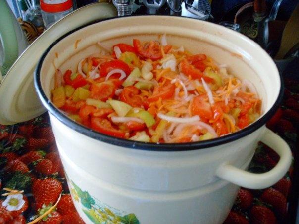Рецепт вкусного салата на зиму.