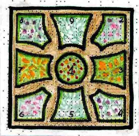 Декоративный огород Стилизованный лист