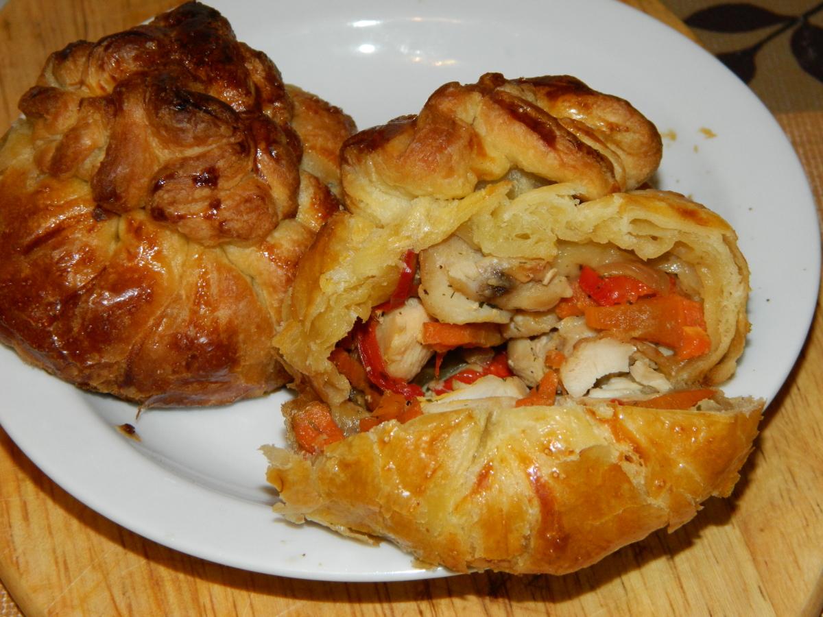 Рецепт пошаговый с мясо запеченное в тесте