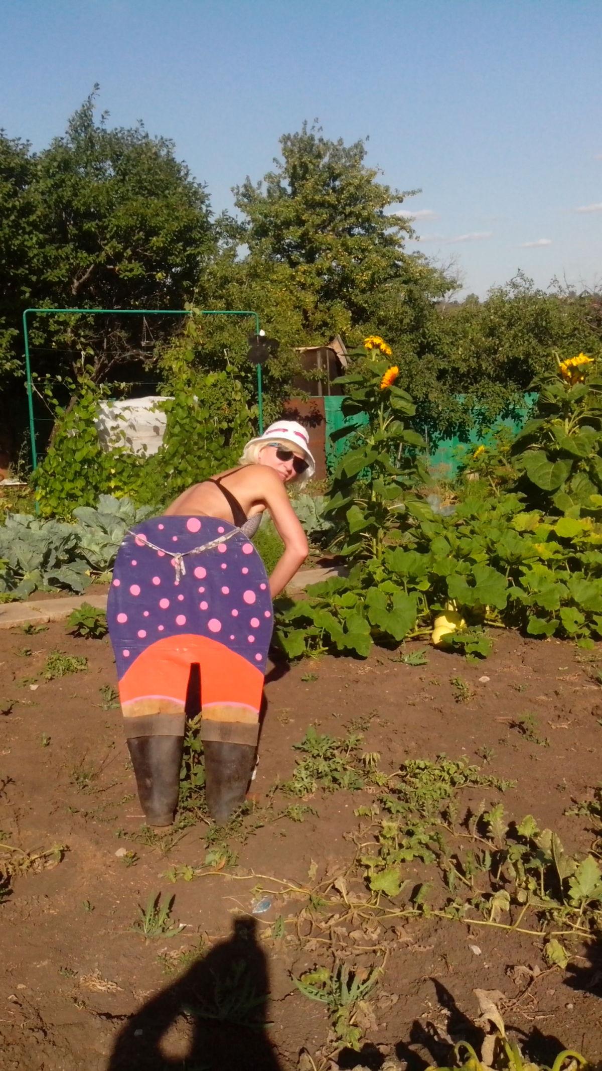 Жена раком в огороде фото115