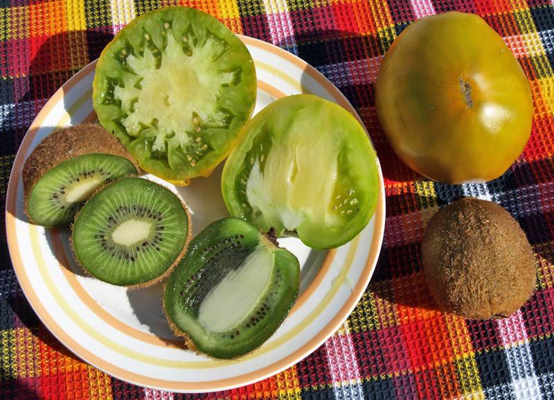 томат Киви и фрукт киви