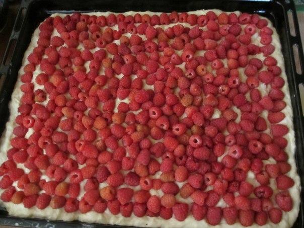 Буду печь пирог с малиной на даче