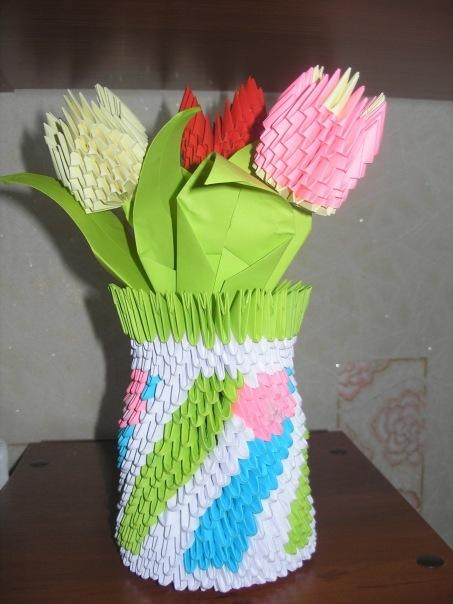 Подарок на день мам оригами