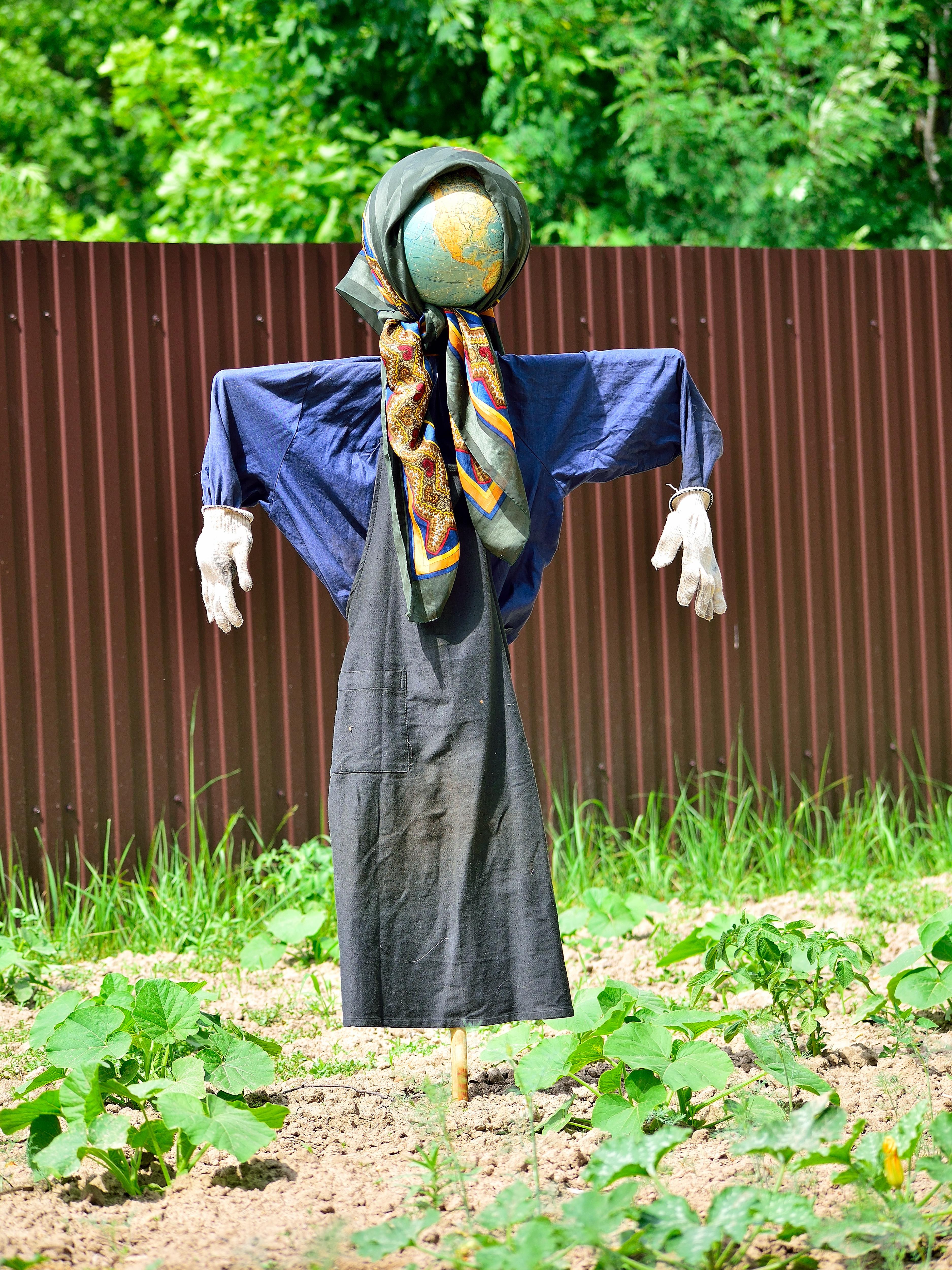 чучело в огород своими руками фото при